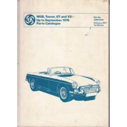 Mgb, Tourer, Gt and V8 - Up to September 1976 Parts Catalog